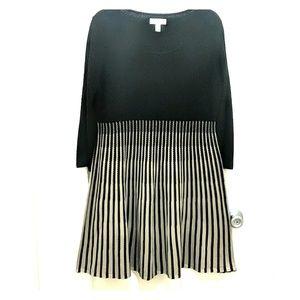DANA BUCHMAN A-LINE KNIT DRESS XL